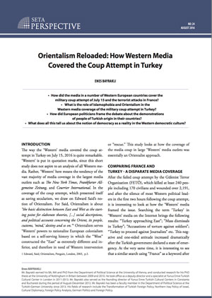 Perspective: Orientalism Reloaded: How Western Media Covered the Coup Attempt in Turkey